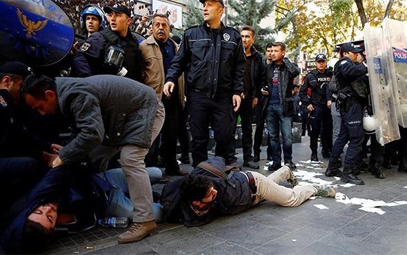 Ankara'da yasak sonrası ilk eylem: 26 gözaltı!