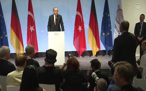 Erdoğan'dan Hamburg'da Almanya'ya salon tepkisi