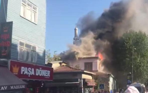 Kasımpaşa'da tarihi hamamda yangın