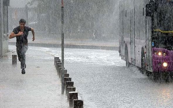 Son hava durumu İstanbul'a sağanak yağış geliyor