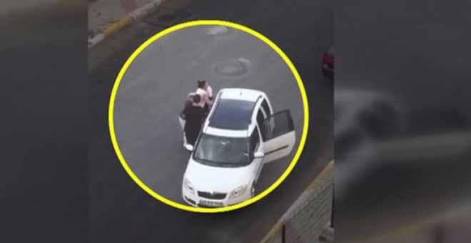 Erkeklere kapak atan kadın sürücü! Herkes bunu izliyor