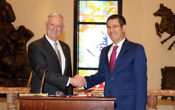 Nurettin Canikli ABD Savunma Bakanı Mattis ile görüştü