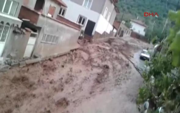 Denizli Serinhisar'da aşırı yağış heyelana neden oldu