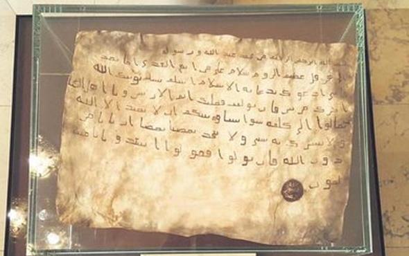 Hazreti Muhammed'in kayıp mektubu bulundu işte yazanlar