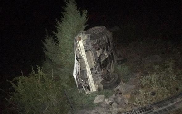 Konya'daki kazada mucize kurtuluş