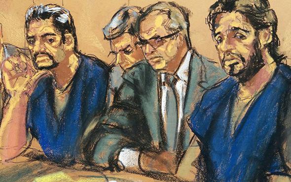 Zarrab mahkemeye ayakları zincirli getirildi