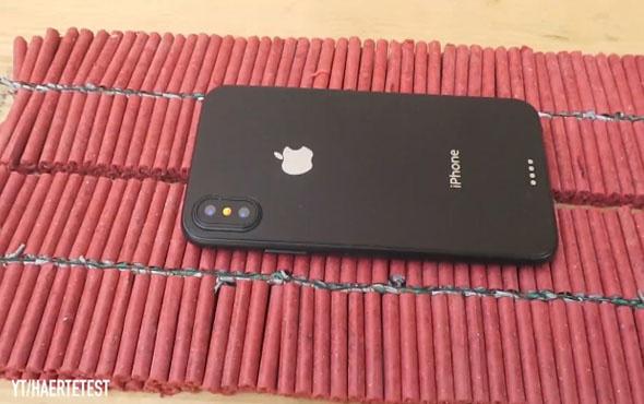 iPhone X'in 1000 havai fişek ile imtihanı