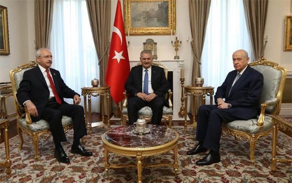TBMM'de sürpriz zirve! Yıldırım, Bahçeli ve Kılıçdaroğlu...