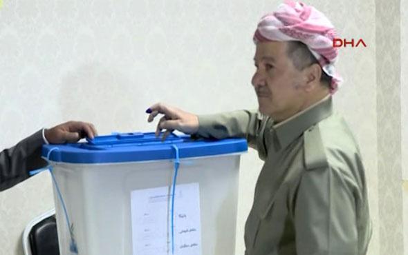 IKBY referandumunda Barzani oy kullandı