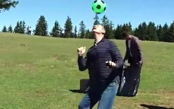 Bakan Soylu yaylada top sektirdi, stres attı!