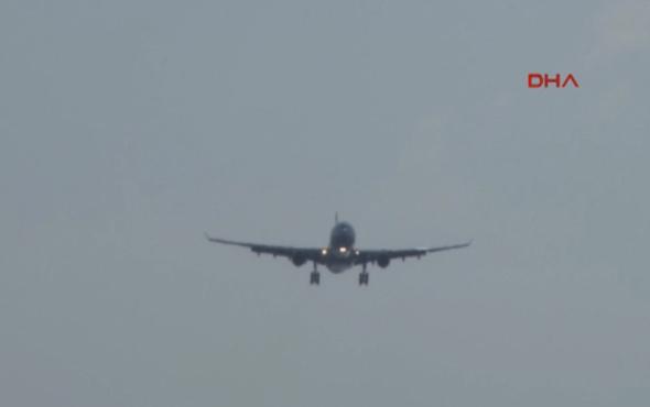 Pilot böyle uyardı: 'Siyah ve sarı renkli, bayağı büyük...'