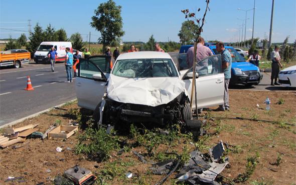 Samsun'da kaza 2 ölü, 5 yaralı