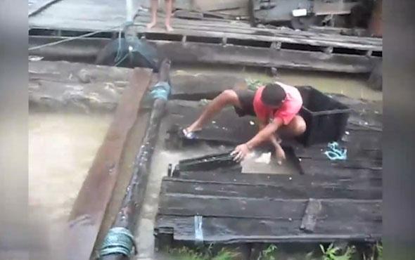 Böyle pirana avı görülmedi