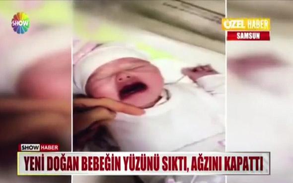 Hastanede skandal görüntü! Ağlayan bebeğe işkence yaptılar