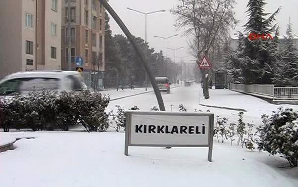 Kırklareli hava durumu meteoroloji kar alarmı verdi