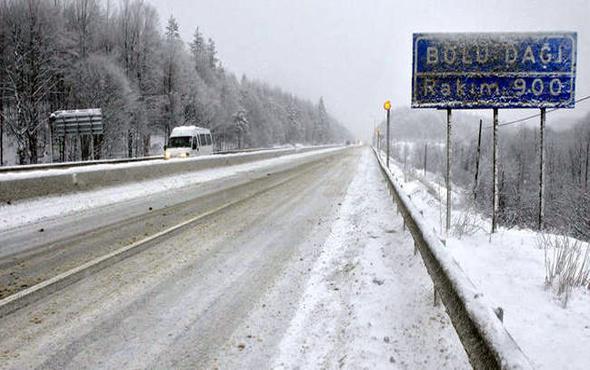 Bolu hava durumu meteoroloji kar alarmı verdi
