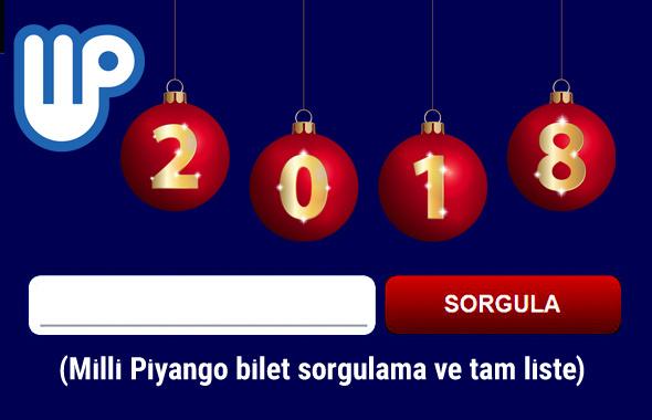 2018 yılbaşı bileti sorgula Milli Piyango tam liste