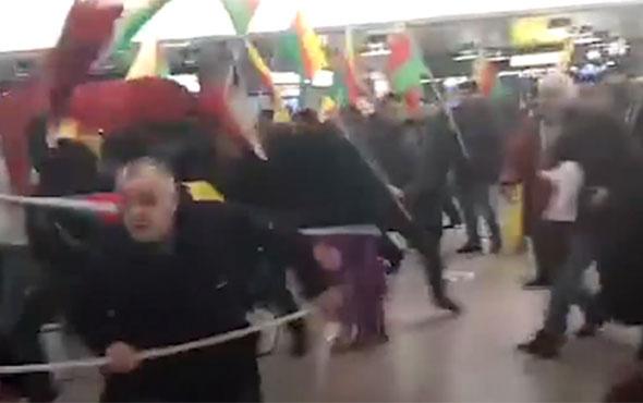 Almanya'da PKK yandaşları Türklerden dayak yedi!