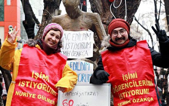 Nuriye Gülmen ve Semih Özakça açlık grevini sona erdirdi