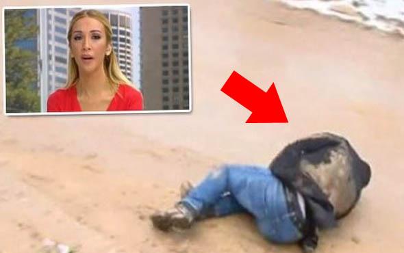 Canlı yayında şoke eden olay muhabir yere çakıldı