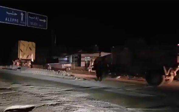 TSK konvoyu Suriye'ye böyle girdi