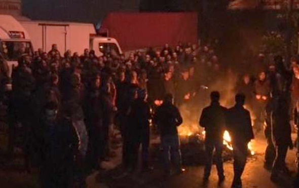 Zeytinburnu'nda nakliyeci eylemine polis müdahalesi