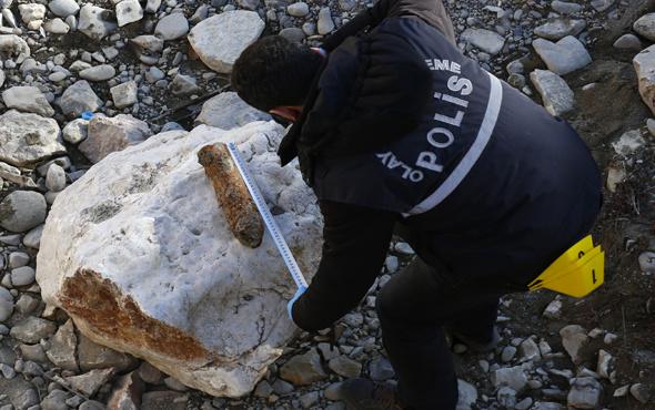 Bayburt'ta patlamamış top mermesi bulundu