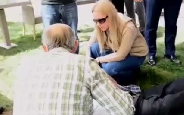 Bakan Pakdemirli'nin eşinden fenalaşan vatandaşa ilk yardım
