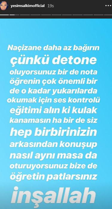 Yeşim Salkım Gülben Ergen ve Demet Akalın'ı fena bombaladı! İnşallah patlarsınız - Sayfa 3