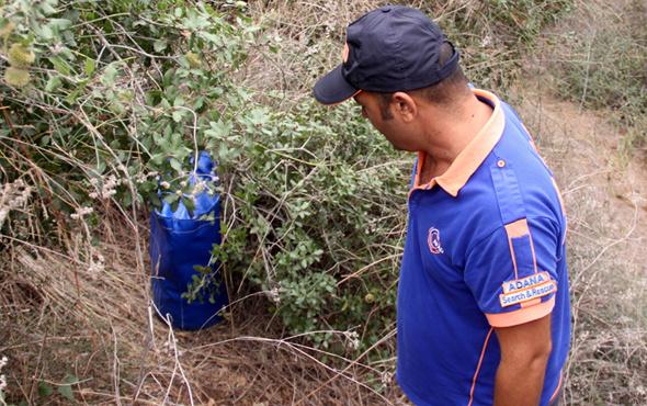 Adana'da ormanda bulunan gizemli çanta polisi alarma geçirdi!