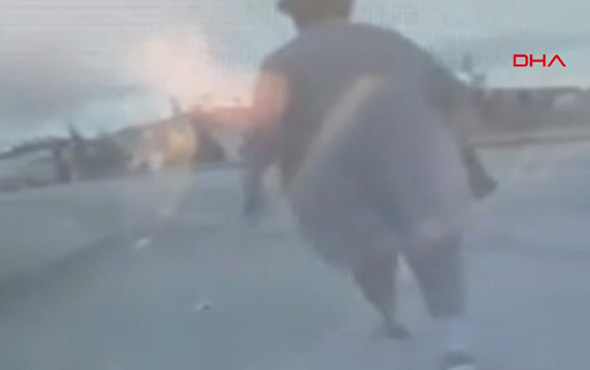 Minibüsünün altına kalan kadının ölüm anı kamerada!