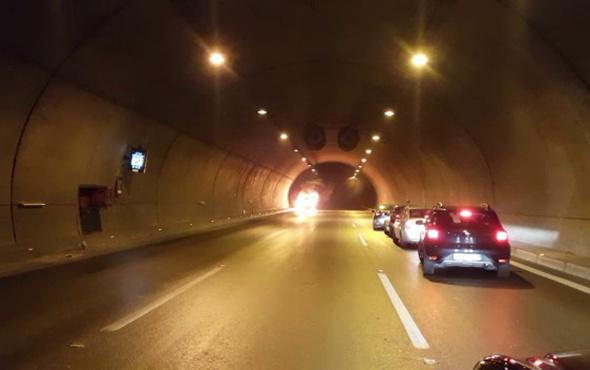 Tünelde yanan araç böyle infilak etti! - Sayfa 1