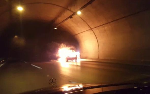 Tünelde yanan araç böyle infilak etti! - Sayfa 2
