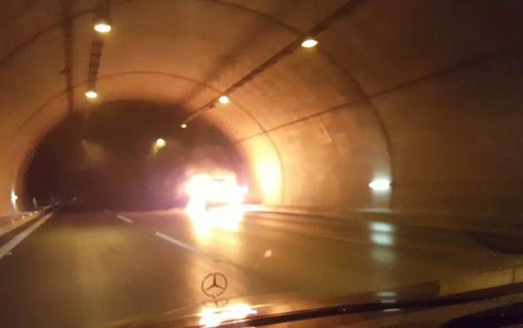 Tünelde yanan araç böyle infilak etti! - Sayfa 3