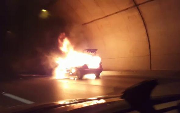 Tünelde yanan araç böyle infilak etti! - Sayfa 4