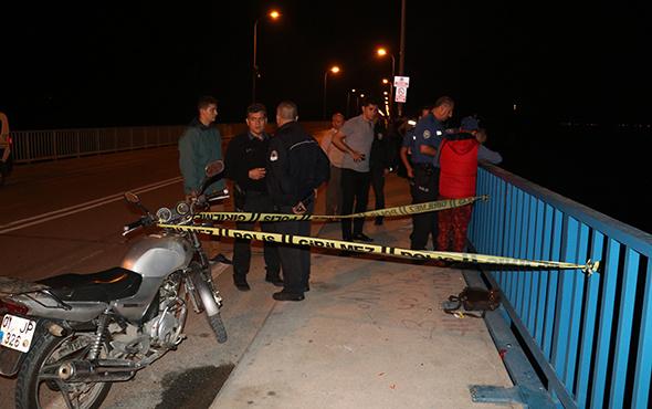 Genç kadın taksiden iner inmez köprüden atladı!