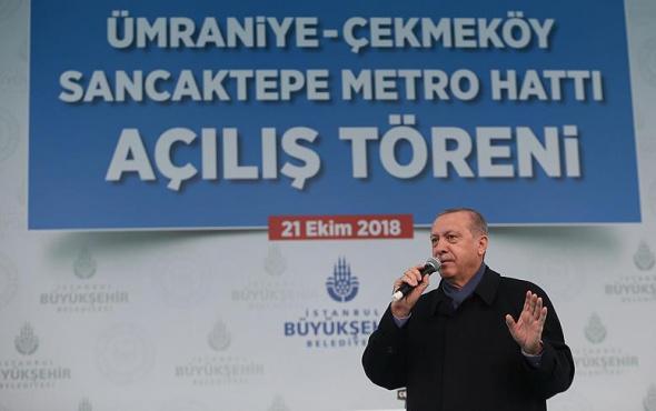 Erdoğan'dan metro açılışında çok önemli açıklamalar!