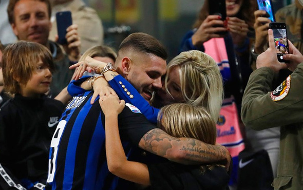Inter uzatmalarda Milan'ı yıktı Icardi karısına koştu