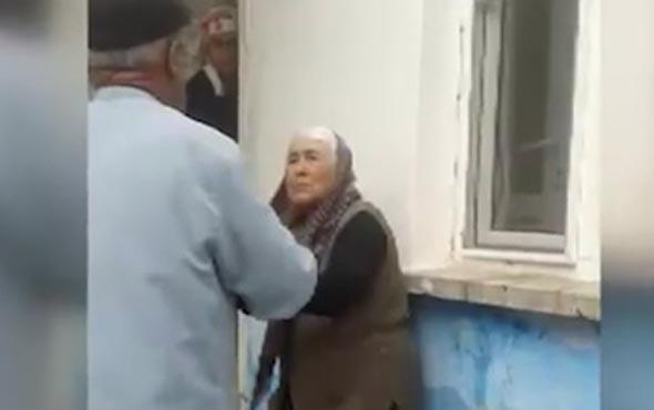 Şoke eden olay! Yaşlı kadını kocası dövdü gelini izledi