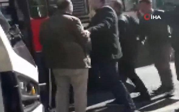Bakıköy'de minibüsçü dehşeti! O anlar kamerada