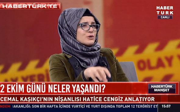 Cemal Kaşıkçı'nın nişanlısı Hatice Cengiz'den canlı yayında dikkat çeken açıklamalar