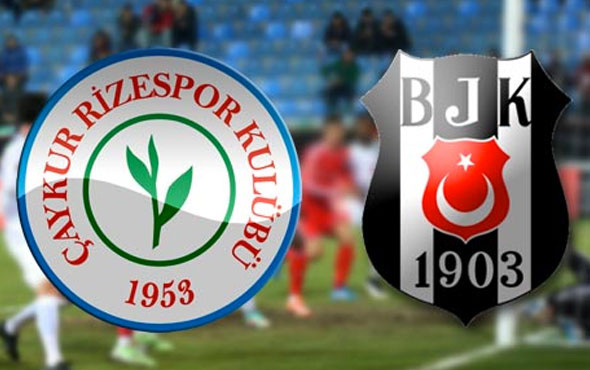 Beşiktaş ile Rizespor 35. kez karşı karşıya gelecek