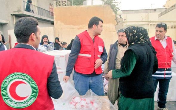 Türk Kızılayı'ndan Erbil'e yardım eli