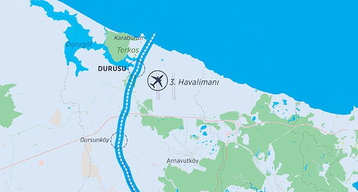 Yeni havalimanı haritasına bakın nerede ve nasıl gidilir işte ulaşım yolları