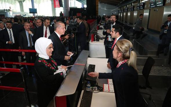 İstanbul Havalimanı'nda ilk bilet Erdoğan'ın