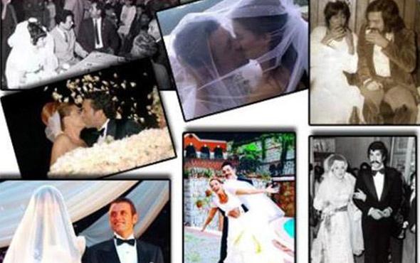 Motor kuryesi ile evlenen bile var! İşte ünlülerin evlilik fotoğrafları