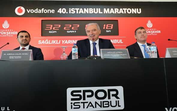 """İBB Başkanı Mevlüt Uysal: """"Ailece maratona bekliyoruz."""""""
