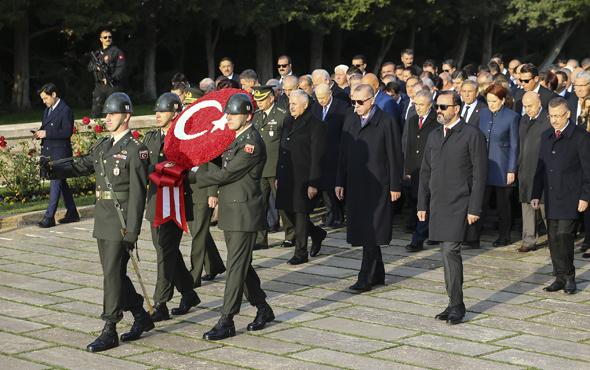 Atatürk vefatının 80.yılında anıldı! İşte Erdoğan'ın mesajı