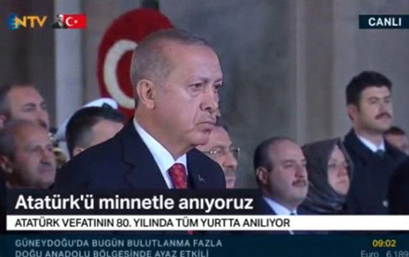 Devlet erkanı Anıtkabir'de Cumhurbaşkanı Erdoğan Ata'ya mesajını paylaştı