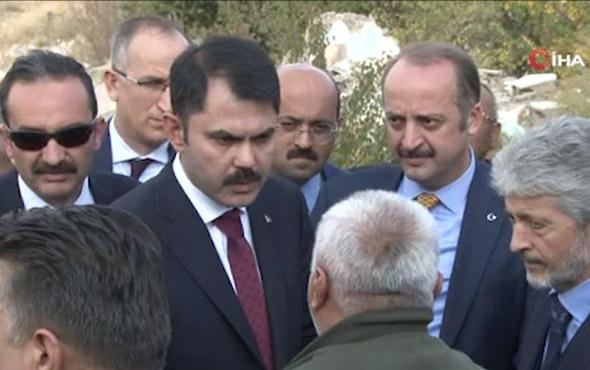 Bakan Kurum ile vatandaş arasında dikkat çeken diyalog